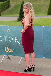 © Licensed to London News Pictures. 11/08/2016. NELL HUDSON attends the VIP press screening of Victoria. The ITV series traces the early life of Queen Victoria, from her accession to the throne at the tender age of 18 through to her courtship and marriage to Prince Albert.  London, UK. Photo credit: Ray Tang/LNP