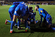 *** during the EFL Sky Bet League 1 match between AFC Wimbledon and Doncaster Rovers at the Cherry Red Records Stadium, Kingston, England on 14 December 2019.