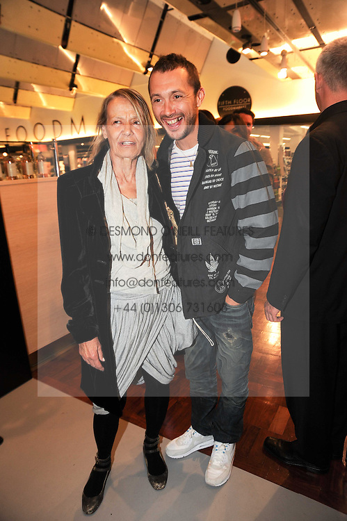ANITA PALLENBERG and VISCOUNT MACMILLAN at a party to celebrate the launch of Bang a new male fragrance by Marc Jacobs held at the Fith Floor Restaurant, Harvey Nichols, Knightsbridge, London on 22nd July 2010.