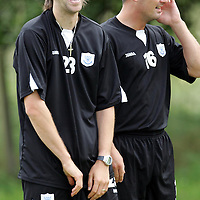 St Johnstone Training...15.07.05<br />Defender Scott Paterson who is trying to win a deal with St Johnstone enjoyng training with David Hannah.<br />see story by Gordon Bannerman Tel: 01738 553978 or 07729 865788<br />Picture by Graeme Hart.<br />Copyright Perthshire Picture Agency<br />Tel: 01738 623350  Mobile: 07990 594431