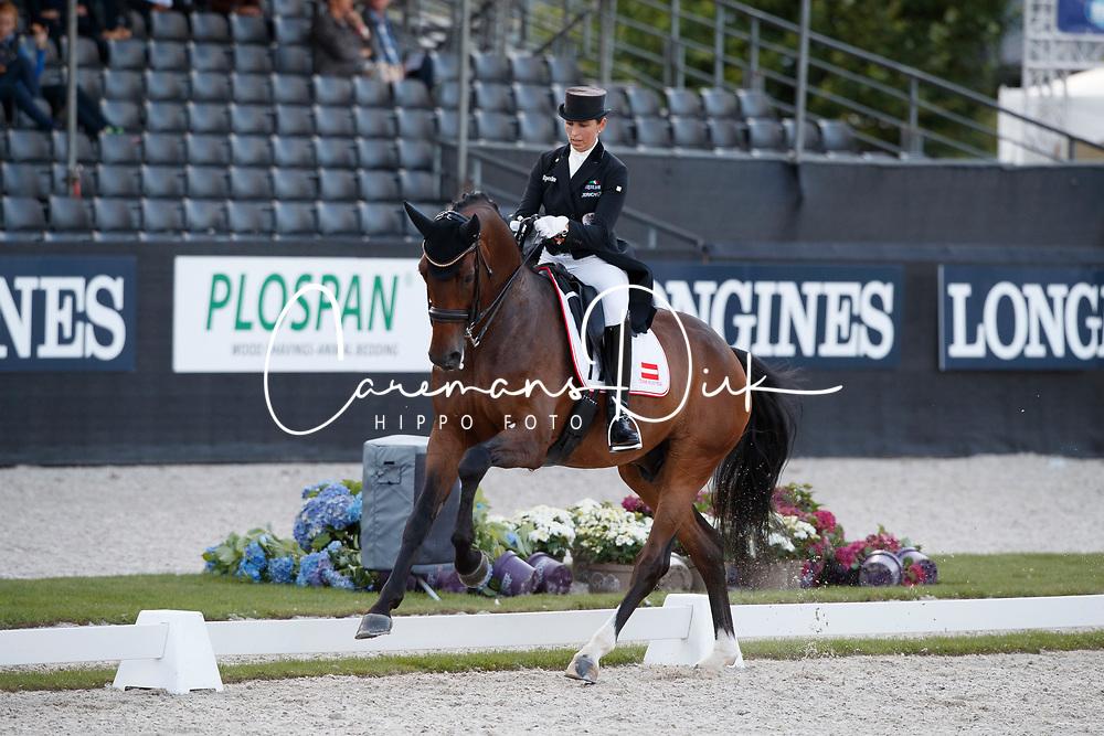 Weinbauer Belinda, AUT, Damons Classic<br /> Longines FEI/WBFSH World Breeding Dressage Championships for Young Horses - Ermelo 2017<br /> © Hippo Foto - Dirk Caremans<br /> 03/08/2017