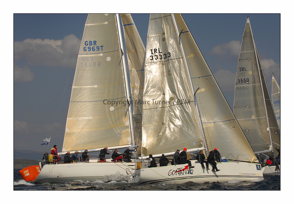 Bell Lawrie Scottish Series 2008. Fine North Easterly winds brought perfect racing conditions in this years event..GBR6969T Grand Cru and IRL33333 Contango in Class 2