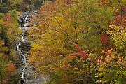 Silver Cascade Falls, Twin Mountain, NH (US), 10/7/2007 7:54:04 AM..NIKON D2X, 1 sec - f9.0, ISO 100, Nikkor 70-200 mm @70.0mm.