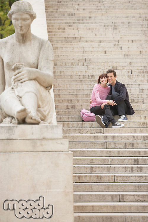 Couple Sightseeing on Steps