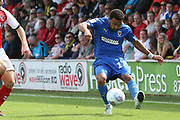AFC Wimbledon midfielder Andy Barcham (17) during the EFL Sky Bet League 1 match between Fleetwood Town and AFC Wimbledon at the Highbury Stadium, Fleetwood, England on 4 August 2018. Picture by Craig Galloway.