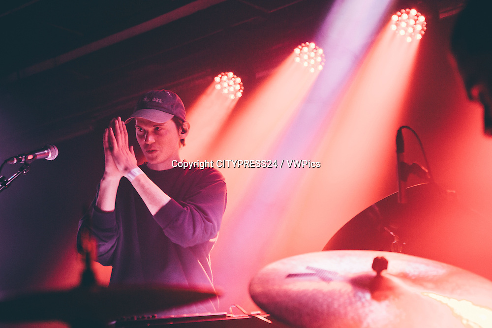 The Danish electronic music producer and recording artist Sekuoia performs a live concert at Templet in Lyngby. Denmark, 25/11 2016.