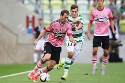 29.07.2015, PGE Arena, Gdansk, POL, Testspiel, OSP Lechia Gdansk vs Juventus Turin, im Bild STEPHAN LICHTSTEINER, LUKAS HARSALIN // during the International Friendly Football Match between OSP Lechia Gdansk and Juventus FC at the PGE Arena in Gdansk, Poland on 2015/07/29. EXPA Pictures © 2015, PhotoCredit: EXPA/ Newspix/ Lukasz Grochala<br /> <br /> *****ATTENTION - for AUT, SLO, CRO, SRB, BIH, MAZ, TUR, SUI, SWE only*****