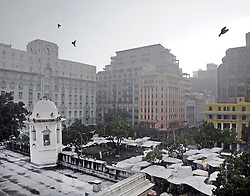 Cape Town - 190702 - Hard rain hits the vendors on Green Market Square. Cape Town's weather takes a fresh turn after the grueling drought that almost brought the city to its knees. Photo: Armand Hough / African News Agency (ANA)