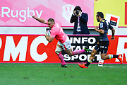 Marvin O Connor (Stade Francais Paris) scored a try during the French Championship Top 14 Rugby Union match between Stade Francais and Stade Rochelais, on September 2, 2017 at Jean Bouin stadium in Paris, France - Photo Stephane Allaman / ProSportsImages / DPPI