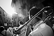 The music band the day befor the Virgin Mary day.In Ponticelli, the eastern outskirts of Naples, for 250 years, the 5th of August is celebrated the Mother of God with the title of &ldquo;Our Lady of the Snows.&rdquo;<br />