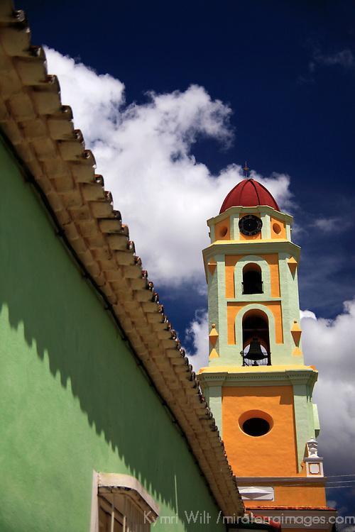 Central America, Cuba, Trinidad. Iglesia y Convento de San Francisco Belltower.