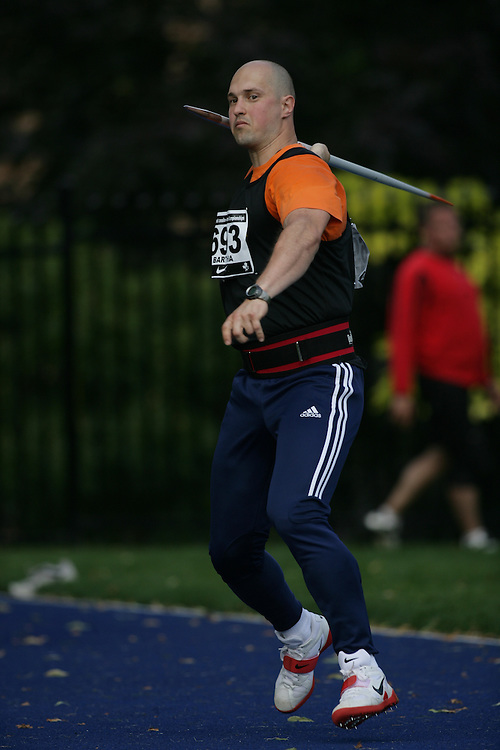 (Toronto, Ontario---25/06/09)   Lorand Traian Bartha competing in the men's javelin qualifying at the 2009 Canadian National Track and field Championships. Photograph copyright Sean Burges / Mundo Sport Images, 2009. www.mundosportimages.com / www.msievents.