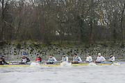 London. UNITED KINGDOM.  Oxford University BC vs German Crew. Varsity Fixture before the 159th BNY Mellon Boat Race on the Championship Course, River Thames, Putney/Mortlake.  Sunday  17/03/2013    [Mandatory Credit. Intersport Images], Germany from Bow, Toni Seifert 2012 M4-, Felix Wimberger 2012 U23 M8+, Maximilian Reinelt 2012 M8+, Felix Drahotta 2012 M2-, Anton Braun 2012 M2-, Kristof Wilke 2012 M8+, Richard Schmidt 2012 M8+, Eric Johannesen 2012 M8+ and Cox Martin Sauer 2012 M8+..Germany at start of the second race.