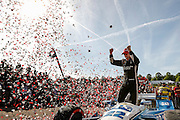 22-24 April, 2016, Birmingham, Alabama USA <br /> 22 Simon Pagenaud celebrates in victory lane<br /> &copy;2016, Sam Cobb<br /> LAT Photo USA