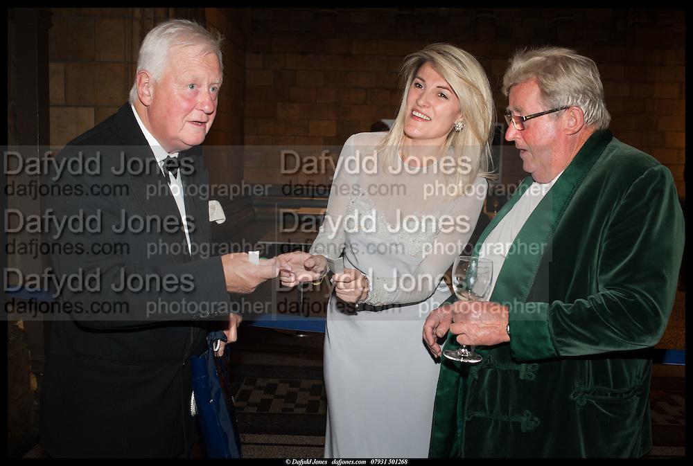 SIR BENJAMIN SLADE; BRIDGET CONVEY, THE HON SIR WILLIAM MCALPINE BT, The Country Life Fair, Royal reception and Grand Ball. Natural History Museum, Cromwell Rd. London. 10 September 2014.