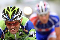 Gorazd Stangelj of Slovenia (Liquigas) escaped but he was caught in Novo mesto in last 4th stage of the 15th Tour de Slovenie from Celje to Novo mesto (157 km), on June 14,2008, Slovenia. (Photo by Vid Ponikvar / Sportal Images)/ Sportida)