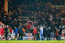 Bristol City fans celebrate after a 0-3 win - Photo mandatory by-line: Rogan Thomson/JMP - 07966 386802 - 28/11/2014 - SPORT - FOOTBALL - Peterborough, England - ABAX Stadium - Peterborough United v Bristol City - Sky Bet League 1.