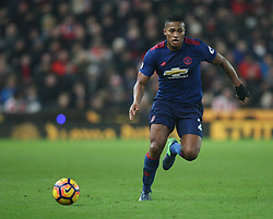 Luis Antonio Valencia of Manchester United in action - Mandatory by-line: Jack Phillips/JMP - 21/01/2017 - FOOTBALL - Bet365 Stadium - Stoke-on-Trent, England - Stoke City v Manchester United - Premier League