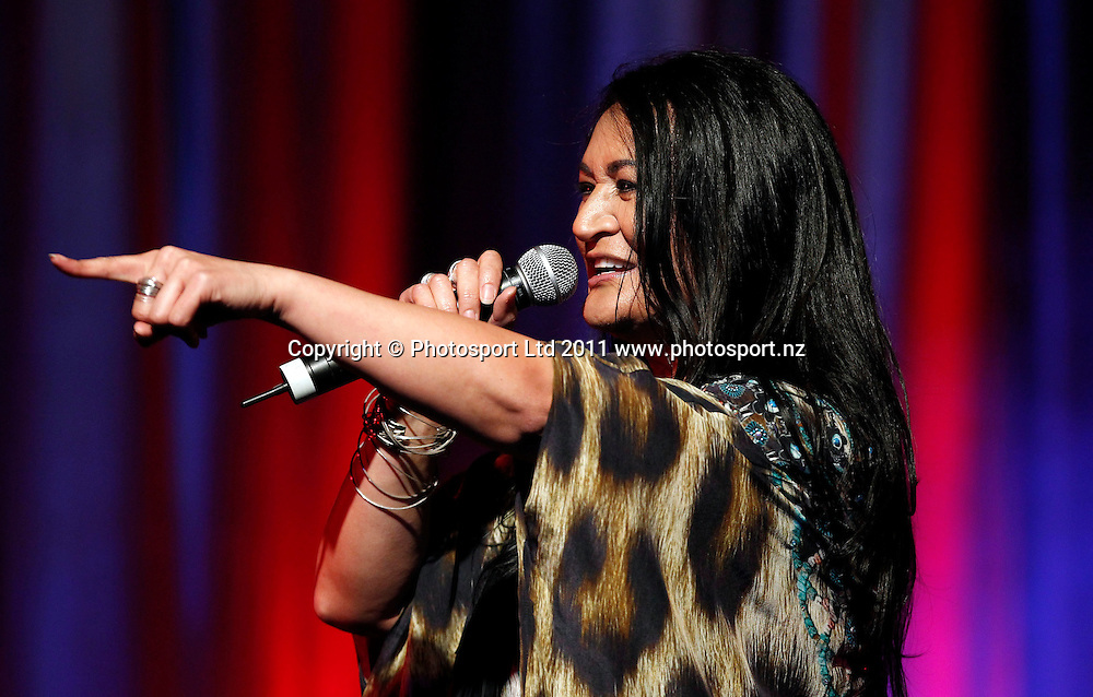 Singer Annie Crummer during the Mayoress' Charity Gala Ball, Viaduct Events Centre, Auckland, New Zealand.  Saturday 19 November 2011 . Photo: Simon Watts / photosport.co.nz