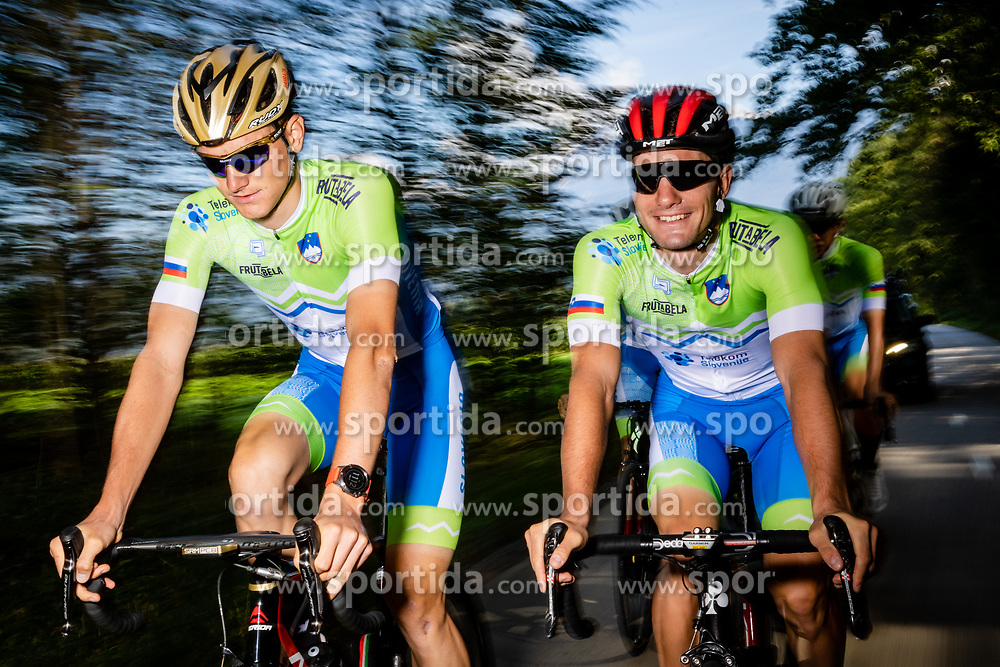 Matej Mohoric and Jan Polanc of Slovenia during photo session of Slovenian Cycling Team for 2018 UCI Road World Championships Innsbruck, on September 17, 2018 in Zgornji Brnik, Slovenia. Photo by Matic Klansek Velej / Sportida