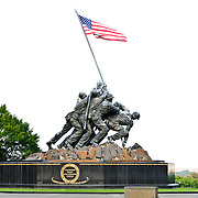 The Marine Corps War Memorial (often known as the Iwo Jima Memorial) next to Arlington National Cemetery. It's the largest bronze statue in the world and designed by Felix de Weldon based on the iconic photo Raising the Flag on Iwo Jima, taken during the Battle of Iwo Jima by Associated Press photographer Joe Rosenthal.