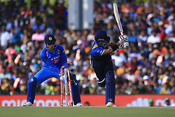 August 20, 2017 - Dambulla, Sri Lanka - Sri Lankan cricketer Kusal Mendis is bowled out during the 1st One Day International cricket match bewtween Sri Lanka and India at Dambulla International cricket stadium situated in the Central Province and the first and only International cricket ground in the dry zone of Sri Lanka on Sunday 20 August 2017. (Credit Image: © Tharaka Basnayaka/NurPhoto via ZUMA Press)