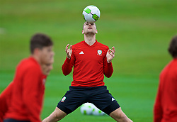 CARDIFF, WALES - Monday, October 15, 2018: Wales' Sam Vokes during a training session at the Vale Resort ahead of the UEFA Nations League Group Stage League B Group 4 match between Republic of Ireland and Wales. (Pic by David Rawcliffe/Propaganda)