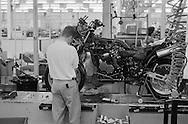 Triumph Trophy 900 motocycle production line.