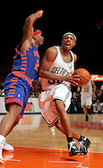 Paul Pierce of the Boston Celtics drives to the hoop against Quentin Richardson of the New York Knicks at Madison Square Garden in New York City. Sunday 04 December 2005 The Knicks won the game 102-99 Photo by Andrew Gombert for the New York Times