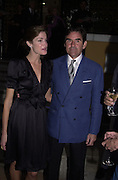Stephanie Seymour and  Peter Brant dinner for Richard Serra hosted by Tom Ford. Guggenheim Museum. During the Biennale of Arts. Venice, Italy. 8 June 2001. © Copyright Photograph by Dafydd Jones 66 Stockwell Park Rd. London SW9 0DA Tel 020 7733 0108 www.dafjones.com