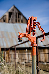 """Water Pump""- This old water pump was photographed in Sattley, CA."