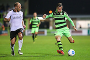 Forest Green Rovers Elliott Frear (11) crosses the ball during the Vanarama National League match between Forest Green Rovers and Eastleigh at the New Lawn, Forest Green, United Kingdom on 13 September 2016. Photo by Shane Healey.