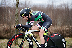 Chanella Stougje (NED) at Healthy Ageing Tour 2018 - Stage 1, an 8km individual time trial in Heerenveen on April 4, 2018. Photo by Sean Robinson/Velofocus.com