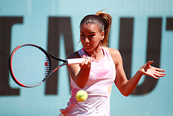 May 9, 2019 - Madrid, MADRID, SPAIN - Irina Bara (ROU) during the Mutua Madrid Open 2019 (ATP Masters 1000 and WTA Premier) tenis tournament at Caja Magica in Madrid, Spain, on May 09, 2019. (Credit Image: © AFP7 via ZUMA Wire)