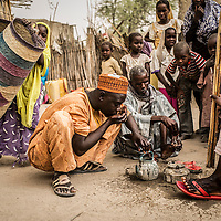 Baga Sola, Lake region, Chad.<br /> <br /> Alhdji Moussagoni 35, Chadian farmer, lived in Baga, Nigeria. He left at the age of 15 to study at Koranic school. His village has been attacked by Boko Haram on January 3, 2015 . He fled with his wife and 6 children to Ngouboua in Chad where he again suffered of an attack of the Islamist group. He moved to Bagasola where he has been welcomed by parents who rent him a house. If the situation stabilizes in the coming months, he would return to Nigeria. <br /> <br /> Sylvain Cherkaoui/Cosmos for MSF