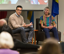 Meant to Live speaker Brian Bannon '97, Commissioner/CEO Chicago Public Library at PLU, Friday, Oct. 14, 2016. (Photo: John Froschauer/PLU)