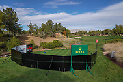 Nov 23, 2018; Las Vegas, NV, USA; General view of the first hole before The Match: Tiger vs Phil golf match at Shadow Creek Golf Course.
