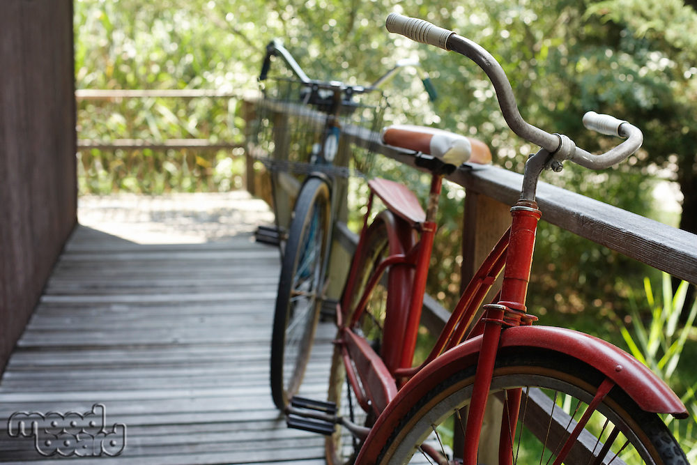 Old bicycles on porch