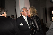 SIR DAVID TANG; LADY VICTORIA CONRAN, Dinner and a performance and film screening from Carnet de and Mike Figgis (who has created a film especially for the event)  to celebrate David Tang and to mark the start of construction of the RA's £50 million redevelopment project.  Royal Academy. Piccadilly. London. 26 October 2015.
