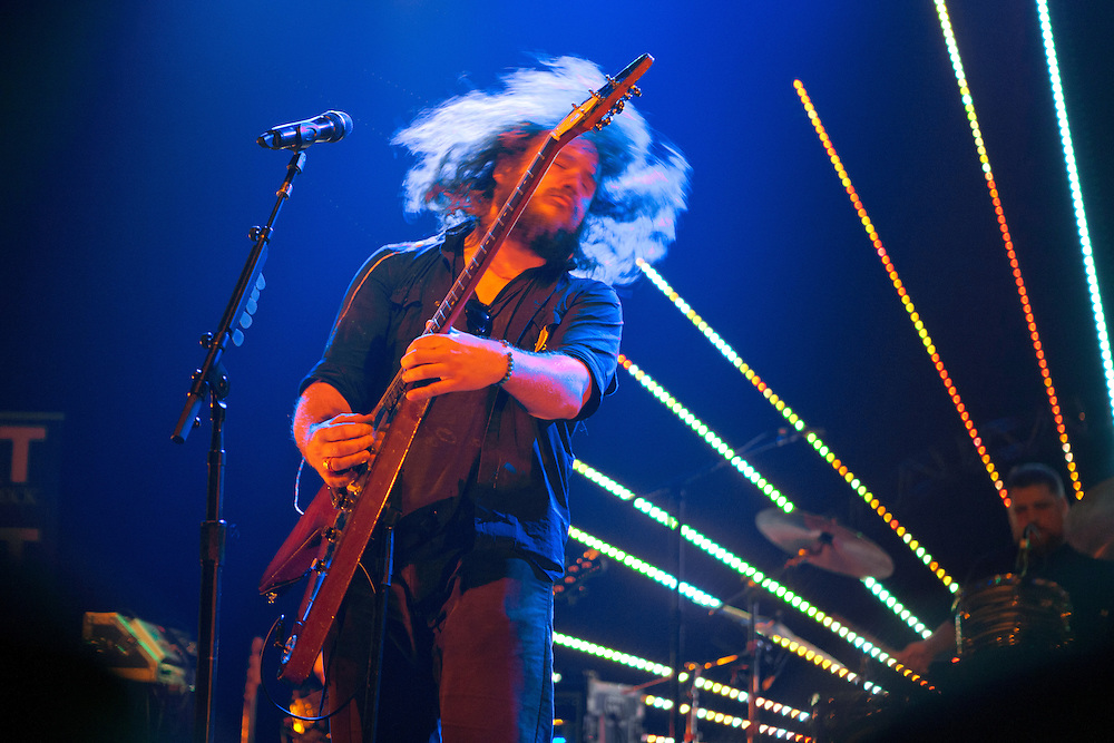 Jim James at the Vic Theatre for a WXRT Studio X performance on April 20, 2013.