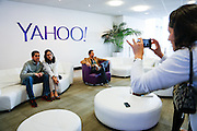 Executives of IMS Corporate visit Yahoo! Inc. for a special event at Yahoo! Inc. in Sunnyvale, California, on September 11, 2013. (Stan Olszewski/SOSKIphoto)