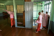 Young Nuns finished studies at Compassion and Peace Nunnery, Nyaung Shwe, Inle Lake, Myanmar