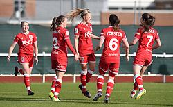 Millie Farrow of Bristol City Women celebrates her first goal - Mandatory by-line: Paul Knight/JMP - Mobile: 07966 386802 - 14/02/2016 -  FOOTBALL - Stoke Gifford Stadium - Bristol, England -  Bristol Academy Women v QPR Ladies - FA Cup third round