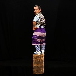 Portrait of performer Paulo Cesar Oliveira dos Santos.<br /> <br /> A victim of bullying when we was younger, he said he was motived by the kids he met through his work. He learned English just in the last few years while on the road with Ringling Brothers. &quot;I see the kids and hug them. Some kids, you can feel it ... some kids need [extra] attention. I can hug [them], I can give love [to] the kids, because that [what] kids need. I love to [give my heart to them] because I feel like them.&quot; <br /> <br /> After 146 years, the &quot;Greatest Show on Earth&quot; will close its curtain in the end of May. <br /> Ringling Bros. and Barnum &amp; Bailey Circus started in 1919 when the circus created by James Anthony Bailey and P. T. Barnum merged with the Ringling Brothers Circus. The circus' parent company, Feld Entertainment, made the decision to end the show after waning ticket sales and long court battles over the treatment of animals, particularly the elephants, made the costly entertainment event unsustainable.