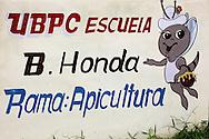 Agricultural school sign in Bahia Honda, Artemisa, Cuba.