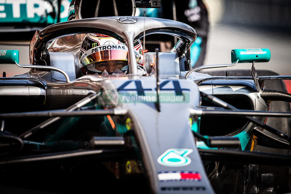February 21, 2019 - Barcelona, Spain - 44 HAMILTON Lewis (gbr), Mercedes AMG F1 GP W10 Hybrid EQ Power+, action during Formula 1 winter tests from February 18 to 21, 2019 at Barcelona, Spain - Photo  Motorsports: FIA Formula One World Championship 2019, Test in Barcelona, (Credit Image: © Hoch Zwei via ZUMA Wire)