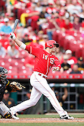 CINCINNATI, OH - APRIL 9: Joey Votto #19 of the Cincinnati Reds bats during the game against the Pittsburgh Pirates at Great American Ball Park on April 9, 2015 in Cincinnati, Ohio. The Reds defeated the Pirates 3-2. (Photo by Joe Robbins)  Joey Votto