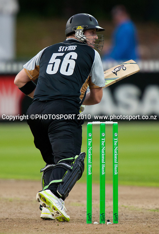 Scott Styris bats during New Zealand Black Caps v Pakistan, Match 2. Twenty 20 Cricket match at Seddon Park, Hamilton, New Zealand. Tuesday 28 December 2010. . Photo: Stephen Barker/PHOTOSPORT