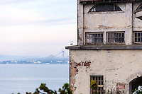 "United States, California, San Francisco. The famous Alcatraz prison island, also known as ""The Rock""."