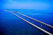 Aerial Image of the Seven-Mile Bridge in the Florida Keys, American Southeast
